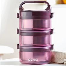 Load image into Gallery viewer, Multi-Layer Stainless Steel Vacuum Insulated Portable Premium Lunch Box for Adults & Kids-The H2O™ Water Bottles-3 Layer-Purple-The H2O™ Water Bottles - Buy Now Order For Sale Best Price Online Shop Purchase Review Amazon Walmart Best Buy Free Shipping