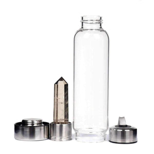 Natural Quartz Gemstone Infuser Water Bottle | New Crystal Elixir Stones-The H2O Water Bottles-The H2O™ Water Bottles - Buy Now Order For Sale Best Price Online Shop Purchase Review Amazon Walmart Best Buy Free Shipping