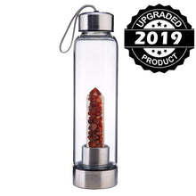 Load image into Gallery viewer, Natural Quartz Gemstone Infuser Water Bottle | New Little Crushed Crystal Stones-The H2O™ Water Bottles-Southern Red Agate-The H2O™ Water Bottles - Buy Now Order For Sale Best Price Online Shop Purchase Review Amazon Walmart Best Buy Free Shipping