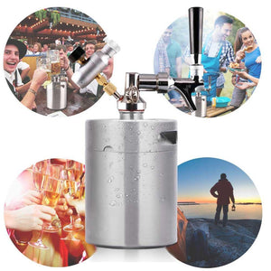 Portable Stainless Steel Pressurized Keg Growler | Kegerator for Home Brew Beer | 64 Ounce(2L)-The H2O™ Water Bottles-The H2O™ Water Bottles - Buy Now Order For Sale Best Price Online Shop Purchase Review Amazon Walmart Best Buy Free Shipping