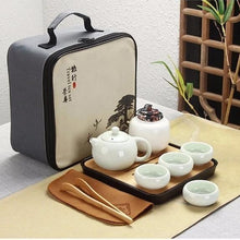 Load image into Gallery viewer, Portable Traditional Chinese Kung Fu Ceramic Tea Set with Travel Bag and Bamboo Tea Tray | 10 Pieces-The H2O™ Water Bottles-The H2O™ Water Bottles - Buy Now Order For Sale Best Price Online Shop Purchase Review Amazon Walmart Best Buy Free Shipping