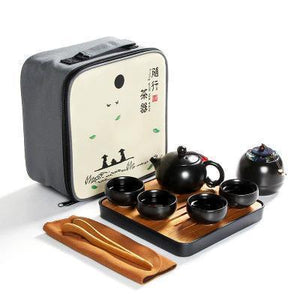 Portable Traditional Chinese Kung Fu Ceramic Tea Set with Travel Bag and Bamboo Tea Tray | 10 Pieces-The H2O™ Water Bottles-The H2O™ Water Bottles - Buy Now Order For Sale Best Price Online Shop Purchase Review Amazon Walmart Best Buy Free Shipping