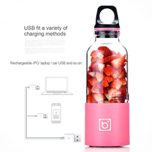 Load image into Gallery viewer, Portable USB Rechargeable Personal Fruit Blender & Smoothie, Protein Shake Maker | Large Size 17 oz-The H2O™ Water Bottles-The H2O™ Water Bottles - Buy Now Order For Sale Best Price Online Shop Purchase Review Amazon Walmart Best Buy Free Shipping