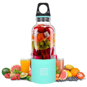Portable USB Rechargeable Personal Fruit Blender & Smoothie, Protein Shake Maker | Large Size 17 oz-The H2O™ Water Bottles-Blue-The H2O™ Water Bottles - Buy Now Order For Sale Best Price Online Shop Purchase Review Amazon Walmart Best Buy Free Shipping