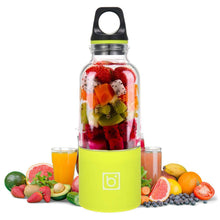 Load image into Gallery viewer, Portable USB Rechargeable Personal Fruit Blender & Smoothie, Protein Shake Maker | Large Size 17 oz-The H2O™ Water Bottles-Green-The H2O™ Water Bottles - Buy Now Order For Sale Best Price Online Shop Purchase Review Amazon Walmart Best Buy Free Shipping