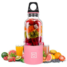 Load image into Gallery viewer, Portable USB Rechargeable Personal Fruit Blender & Smoothie, Protein Shake Maker | Large Size 17 oz-The H2O™ Water Bottles-Pink-The H2O™ Water Bottles - Buy Now Order For Sale Best Price Online Shop Purchase Review Amazon Walmart Best Buy Free Shipping
