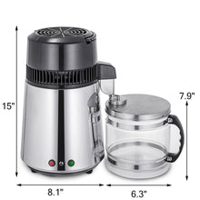 Load image into Gallery viewer, Premium Stainless Steel Home Water Filter & Distiller & Purifier Machine 4L with Glass Container-The H2O™ Water Bottles-The H2O™ Water Bottles - Buy Now Order For Sale Best Price Online Shop Purchase Review Amazon Walmart Best Buy Free Shipping