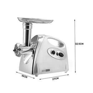 2800W High Power Electric Meat Grinder Meat Mincer Sausage Grinder, High Quality Stainless Steel Cutting Blade, 3 Stainless Steel Grinding Plates, 3 Sausage Stuffer | Best Heavy Duty Professional Home Kitchen Household Use | Light Commercial Ground Beef Maker | Buy Order Online