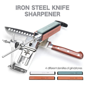 Heavy Duty Stainless Steel Professional Knife Sharpener With Built In 4 Whetstones | Commercial & Home | Kitchen Knife Sharpener Tool Knives Sharpening Kit | 304 Steel Chef Knife Sharpener with High Quality Natural Grit Wetstone Wet Stones Sharpening Stones System | Buy Best Knife Sharpener Online | Stone for Knives
