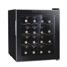 Load image into Gallery viewer, 2020 New Design Blue Interior Light Thermostatic Wine Cooler / Refrigerator with Digital Touch Screen Commercial & Home | Freestanding Champagne Chiller Counter Top Wine Cellar with Temperature Display | Adjustable Temperature Wine Cabinet | Stand Alone Wine Cooler Rack | Glass Bottle Best Wine Refrigerator Buy Online