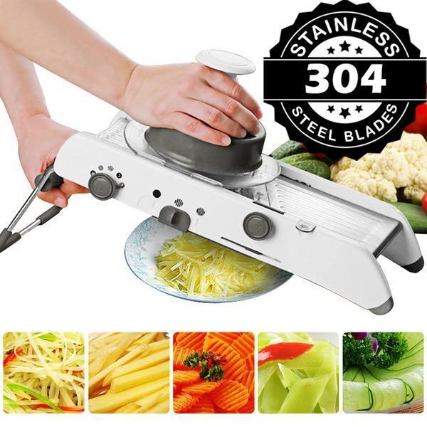 Professional Heavy Duty Vegetable Cutter & Mandoline Slicer with Adjustable Stainless Steel Blades-The H2O™ Water Bottles-The H2O™ Water Bottles - Buy Now Order For Sale Best Price Online Shop Purchase Review Amazon Walmart Best Buy Free Shipping