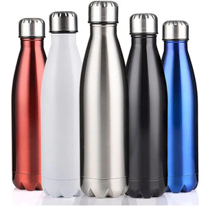 Stainless Steel Double-Wall Vacuum Insulated Thermos Water Bottle 17 oz-The H2O™ Water Bottles-White-The H2O™ Water Bottles - Buy Now Order For Sale Best Price Online Shop Purchase Review Amazon Walmart Best Buy Free Shipping