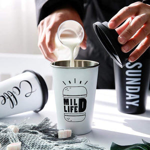 The H2O™ Black&White Series Stainless Steel Tumbler Cup 10 oz-The H2O Water Bottles-White 2- Mild Life-The H2O™ Water Bottles - Buy Now Order For Sale Best Price Online Shop Purchase Review Amazon Walmart Best Buy Free Shipping