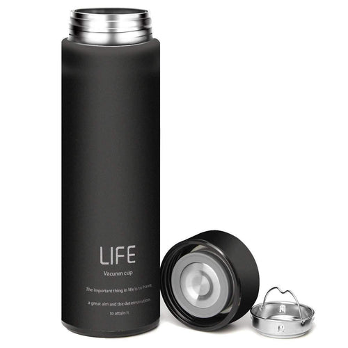 The H2O™ Classy LIFE Series Stainless Steel Vacuum Mug 16 oz-The H2O Water Bottles-Black-The H2O™ Water Bottles - Buy Now Order For Sale Best Price Online Shop Purchase Review Amazon Walmart Best Buy Free Shipping