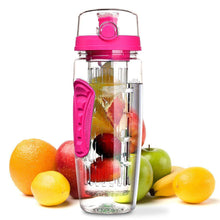 Load image into Gallery viewer, The H2O™ PLUS Easy Grip Fruit Infuser Water Bottle 32 oz-The H2O Water Bottles-Pink-The H2O™ Water Bottles - Buy Now Order For Sale Best Price Online Shop Purchase Review Amazon Walmart Best Buy Free Shipping