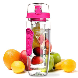The H2O™ PLUS Easy Grip Fruit Infuser Water Bottle 32 oz-The H2O Water Bottles-Pink-The H2O™ Water Bottles - Buy Now Order For Sale Best Price Online Shop Purchase Review Amazon Walmart Best Buy Free Shipping