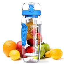 Load image into Gallery viewer, The H2O™ PLUS Easy Grip Fruit Infuser Water Bottle 32 oz-The H2O Water Bottles-Blue-The H2O™ Water Bottles - Buy Now Order For Sale Best Price Online Shop Purchase Review Amazon Walmart Best Buy Free Shipping