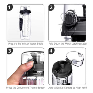 The H2O™ PLUS Easy Grip Fruit Infuser Water Bottle 32 oz-The H2O Water Bottles-The H2O™ Water Bottles - Buy Now Order For Sale Best Price Online Shop Purchase Review Amazon Walmart Best Buy Free Shipping