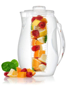 "The H2O™ Unbreakable Fruit Infuser Water Pitcher 2.9 Quartz-The H2O Water Bottles-10""-The H2O™ Water Bottles - Buy Now Order For Sale Best Price Online Shop Purchase Review Amazon Walmart Best Buy Free Shipping"
