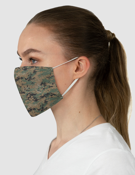 MARPAT Digital Woodland Camouflage Print | Fabric Face Mask