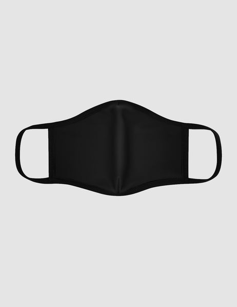 Classic Black | Fitted Double Layered Polyester Face Mask