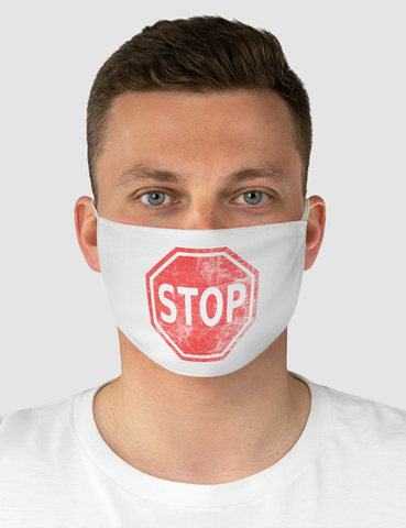 Vintage Stop Sign | Fabric Face Mask