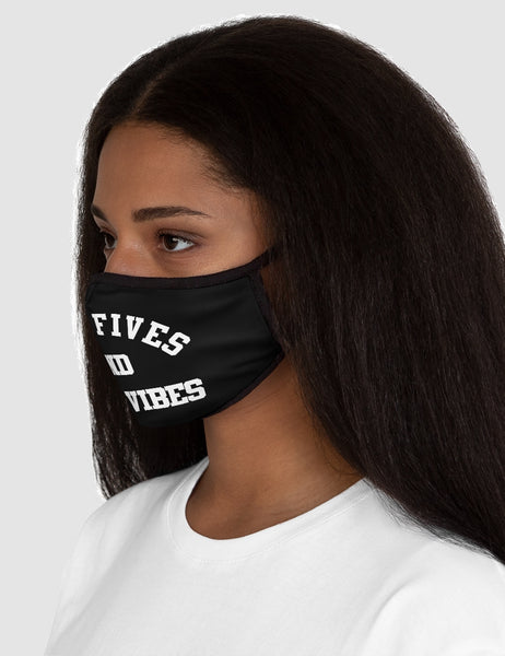 High Fives And Good Vibes | Fitted Double Layered Polyester Face Mask