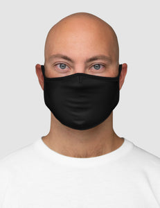 Classic Black Fitted Double Layered Polyester Face Mask - OniTakai