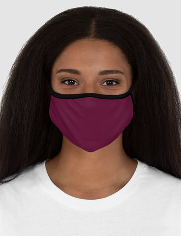 Classic Maroon Fitted Double Layered Polyester Face Mask - OniTakai
