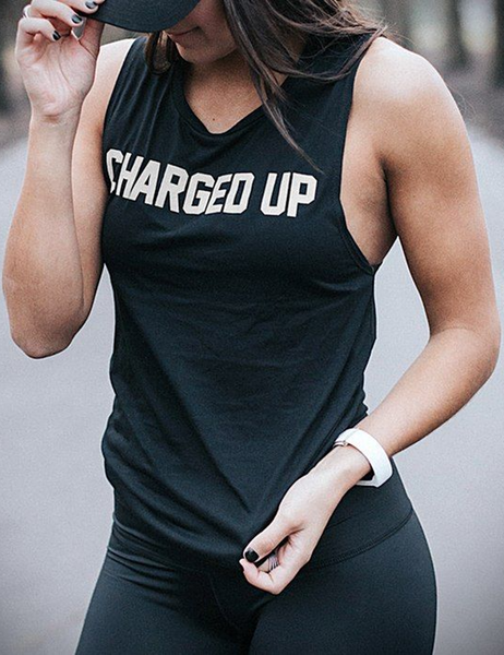 Charged Up Women's Muscle Tank Top - OniTakai