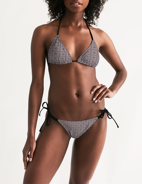Abstract Quad Pattern | Women's Triangle String Bikini