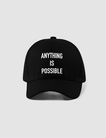 Anything Is Possible Black Closed Back Flexfit Hat - OniTakai