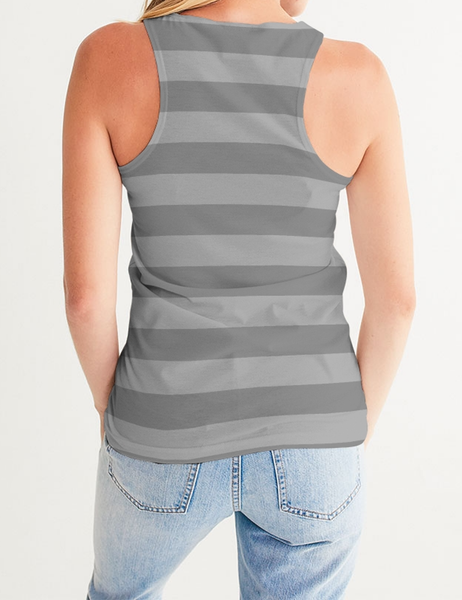 Light Grey Lines | Women's Fitted Sublimated Tank Top