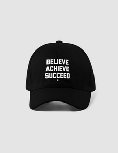 Believe Achieve Succeed | Closed Back Flexfit Hat