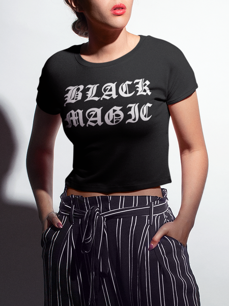 Black Magic | Crop Top T-Shirt