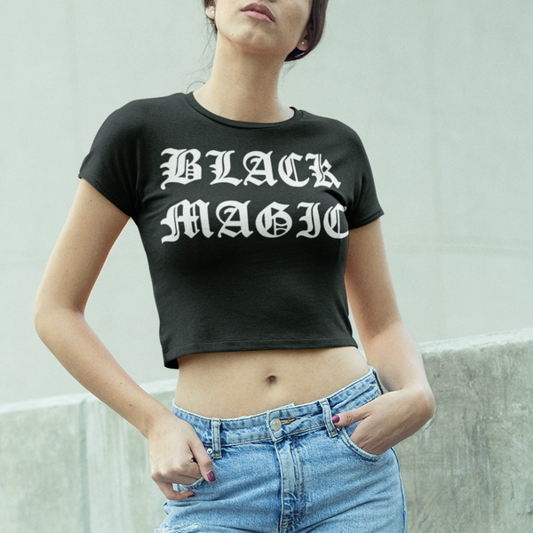 Black Magic Crop Top T-Shirt - OniTakai