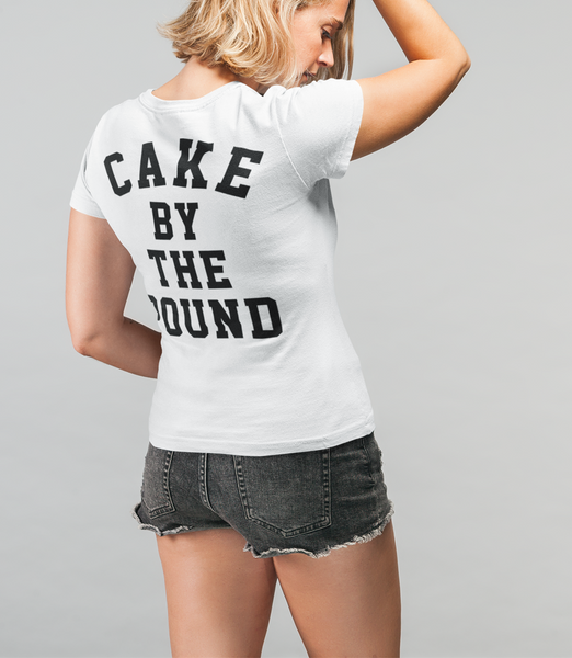 Cake By The Pound Women's Cut Back Print T-Shirt - OniTakai
