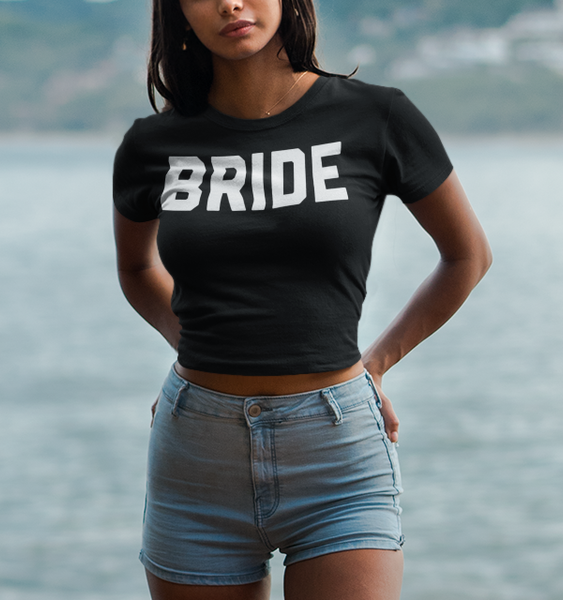 Bride Crop Top T-Shirt - OniTakai