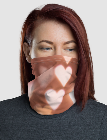 Bright Glowing Hearts | Neck Gaiter Face Mask