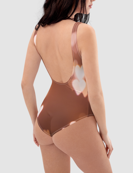 Bright Glowing Hearts | Women's One-Piece Swimsuit