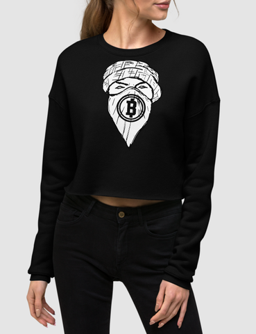 Broke Boys Club Masked Man | Crop Sweatshirt