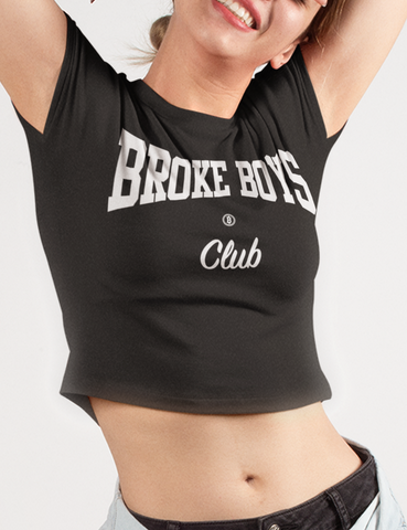Broke Boys Club Crop Top Tee - OniTakai