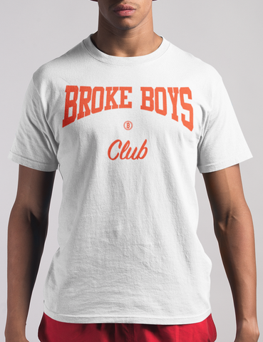 Broke Boys Club Red Logo Tee - OniTakai