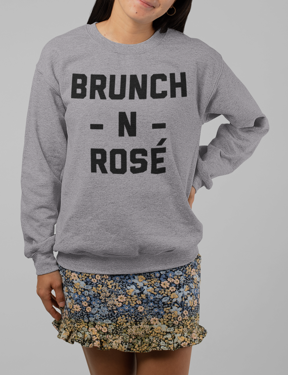 Brunch N Rosé | Crewneck Sweatshirt