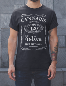 Cannabis 420 Whiskey Style T-Shirt - OniTakai