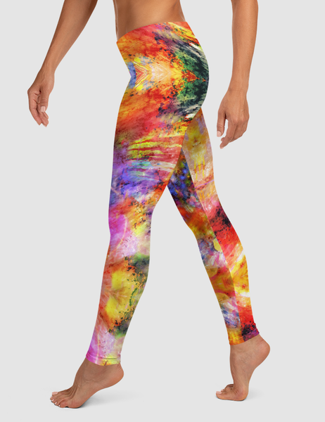 Colorful Abstract | Women's Standard Yoga Leggings