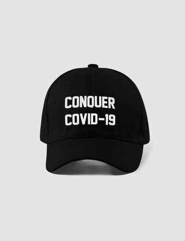 Conquer COVID-19 | Closed Back Flexfit Hat