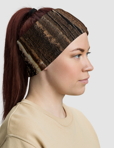 Cracked Brown Wood Texture | Neck Gaiter Face Mask