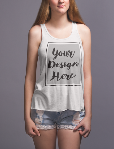 Customizable Women's Flowy Racerback Tank Top