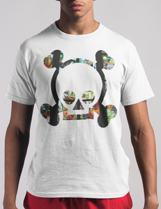 Cute Stained Glass Skull | T-Shirt